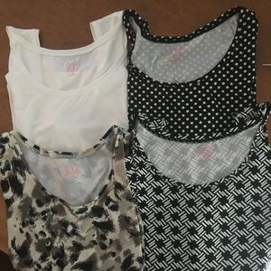 212 Collection lot of 4 shell/tank top Size XL